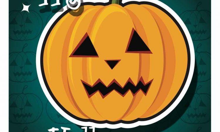 Happy image of a pumpkin